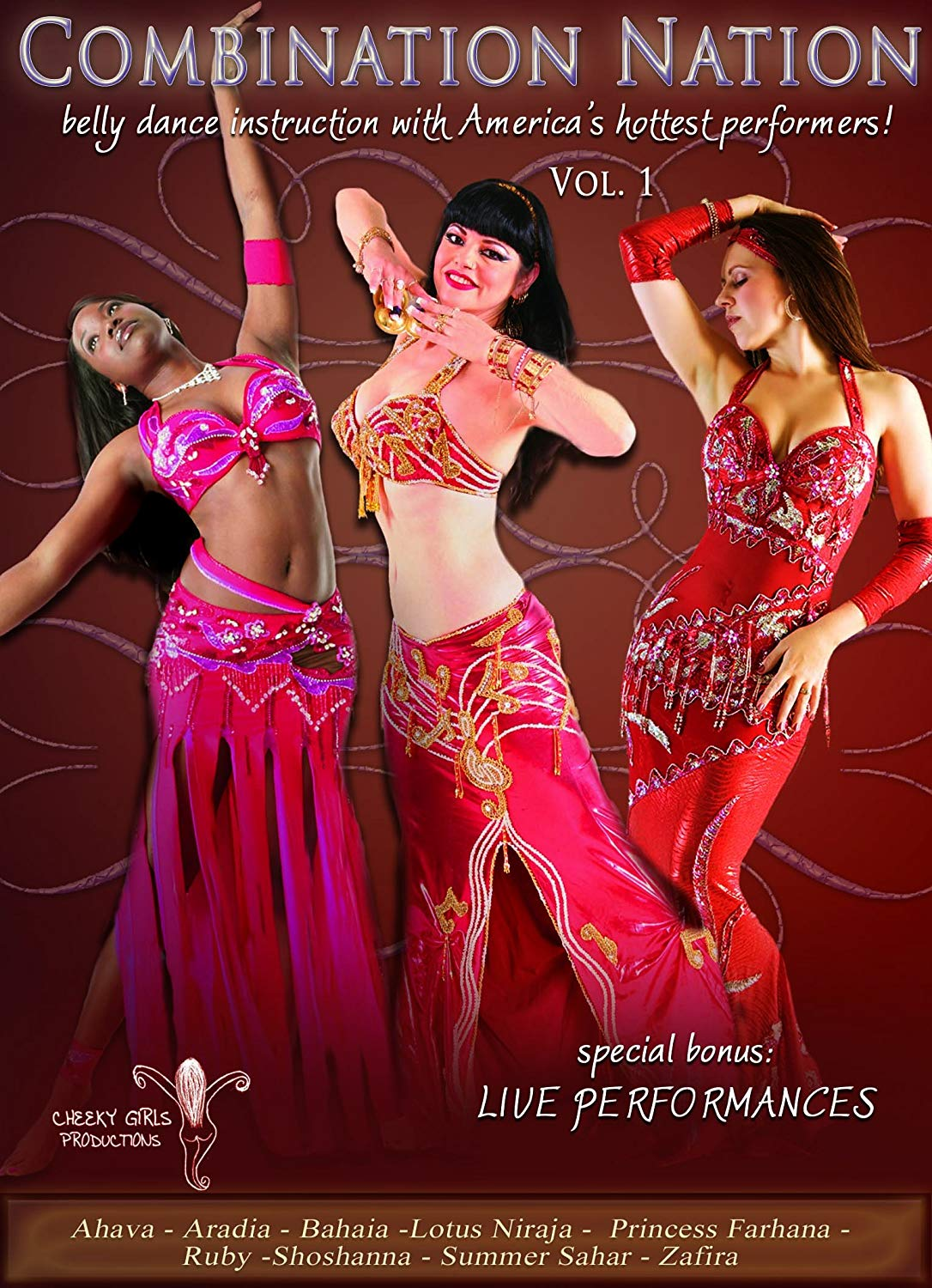 Combination Nation Vol 1: Belly Dance Instruction with America's Hottest Performers Couverture du livre